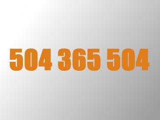 Złoty numer Orange 504 365 504 Daj się zapamiętać