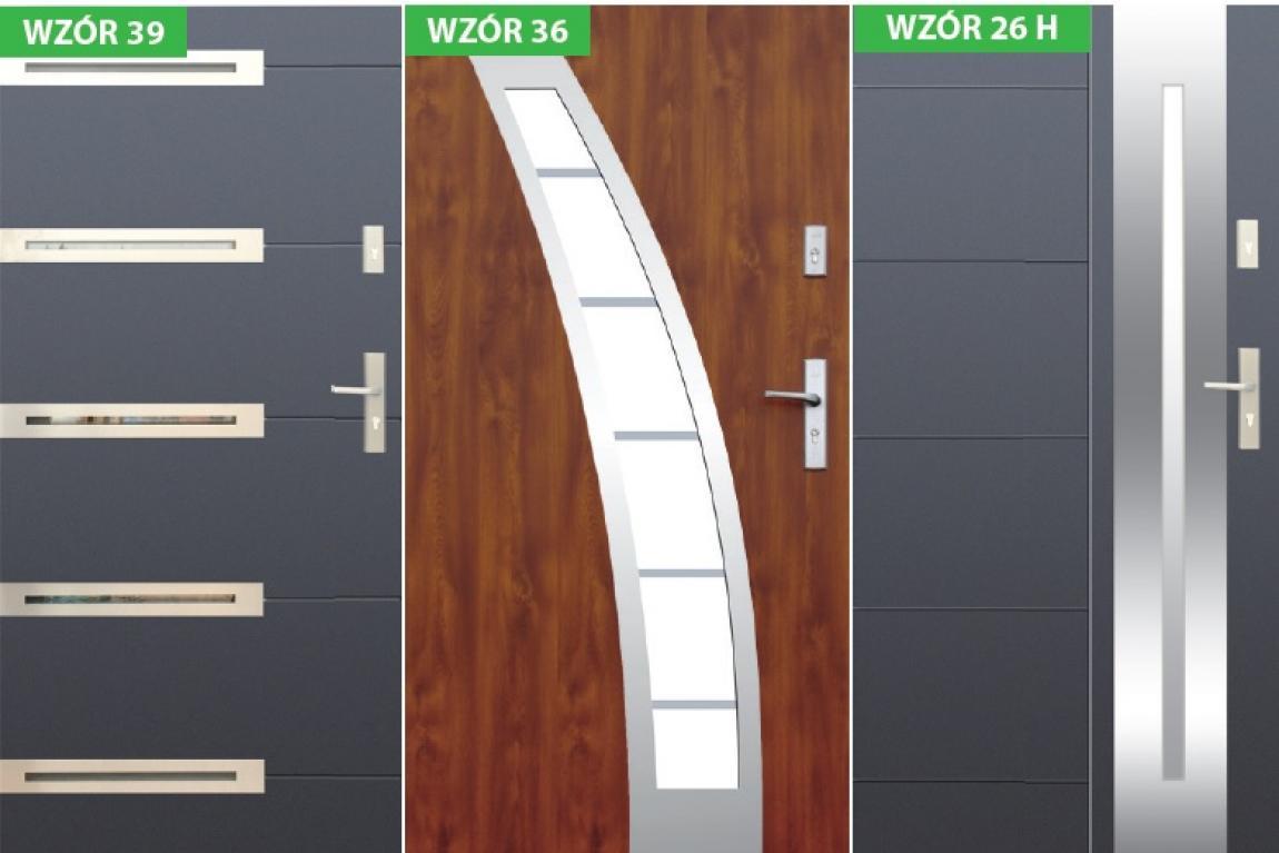 Drzwi zewnętrzne z montażem