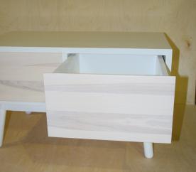 Komoda drewniana,kolekcja francuska,jesion bielony