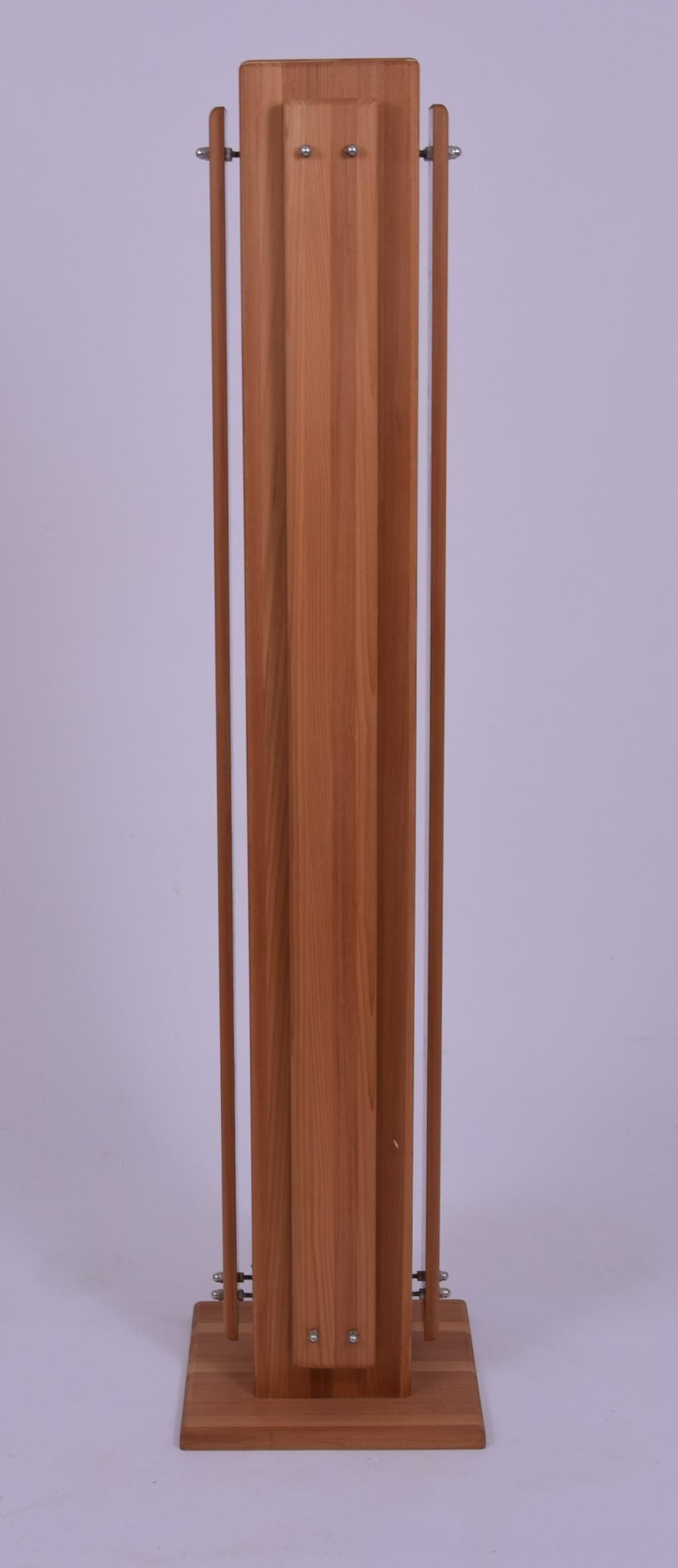 Lampa drewniana, podłogowa, mix kolorów, cedr,deco