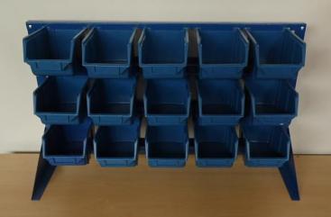 REGAŁ 2w1 mały na 15 pojemników ecobox. Magazynowy