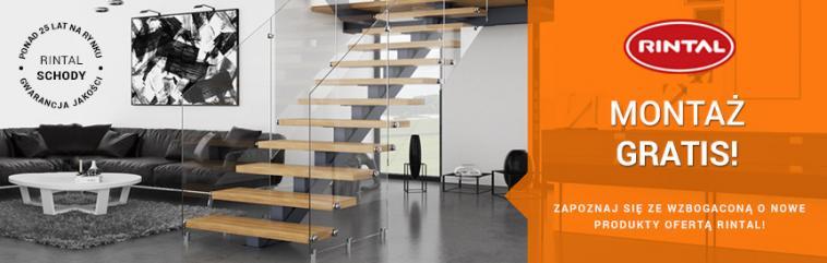 Rintal - w czerwcu montaż schodów GRATIS