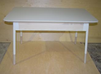 Stół drewniany z szufladą,kolekcja FR,jesion biel.
