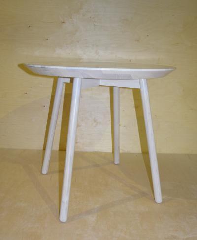 Stół drewniany,okrągły,kolekcja FR,jesion bielony