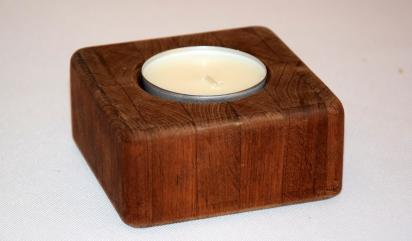 Świecznik drewniany,thermo jesion, pojedynczy,deco