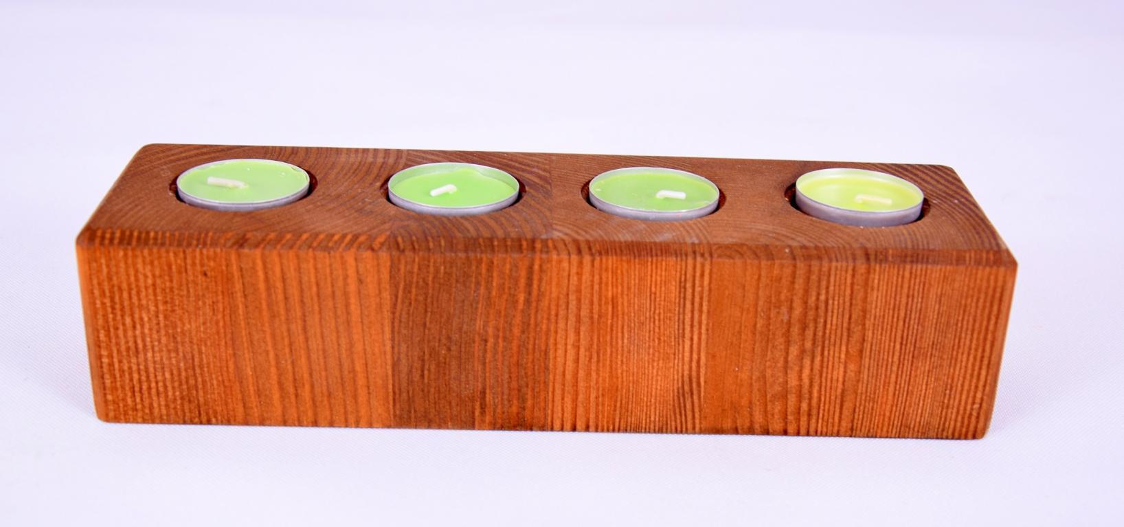 Świecznik drewniany,wysoki,thermo jesion,ozdobny