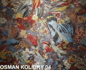 Tkanina obiciowa, stylowa, żakard, Osman Kolibry