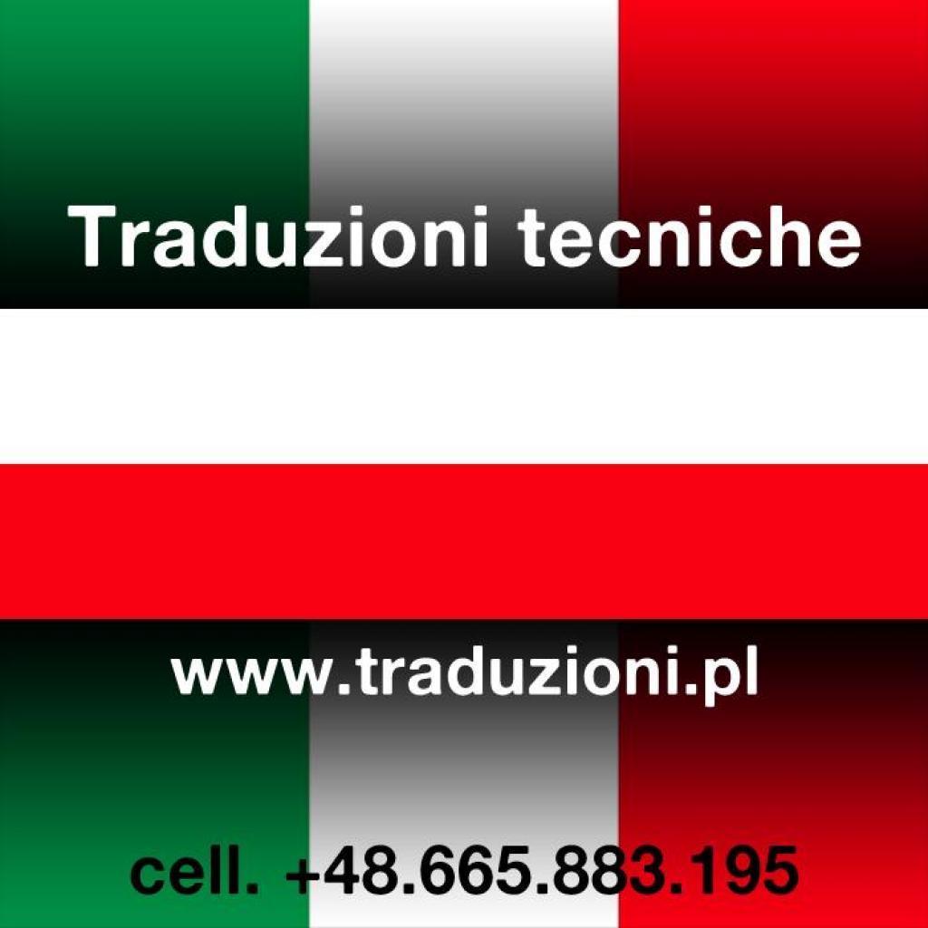 Włoski - tłumaczenia techniczne pisemne i ustne