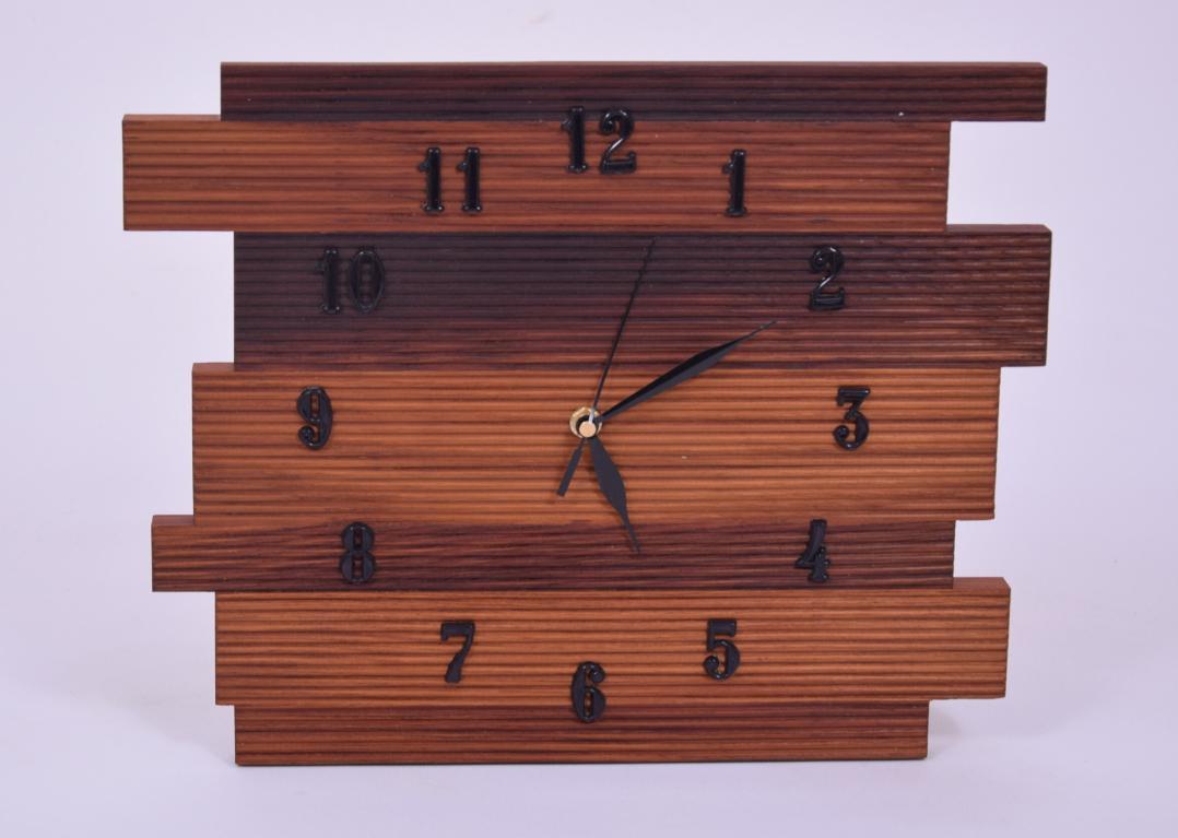 Zegar drewniany, naścienny, thermo jesion, ozdobny